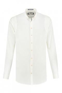 Blue Crane slim fit shirt - Linen white