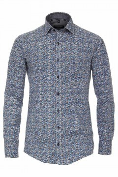 Casa Moda Casual Fit Shirt - Blue/Flowers