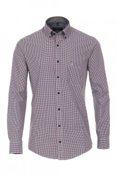 Casa Moda Casual Fit Shirt - Red/blue checkered