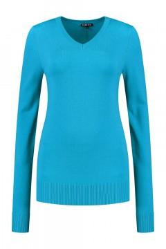 Casa Mia - V-Neck Sweater Blue