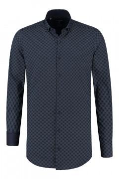 Corrino Shirt - Milano checkered navy/white