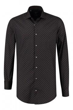 Corrino Shirt - Milano checkered black/brown