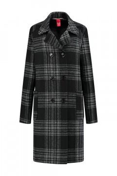Only M - Winter Coat Black Tartan