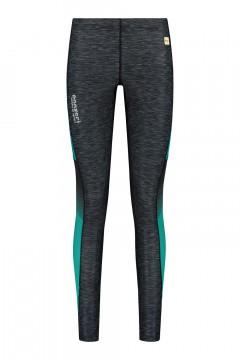 Panzeri Ladies Running Tights - Turbo black/turquoise