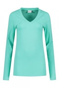 Highleytall - V-neck longsleeve shirt sea green