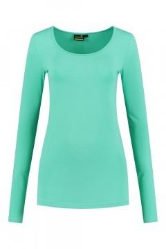 Sequoia - Basic top long sleeve light turquoise