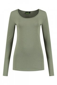 Sequoia - Basic top long sleeve khaki