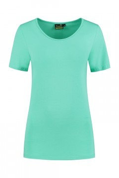 Sequoia - Basic top short sleeve light turquoise