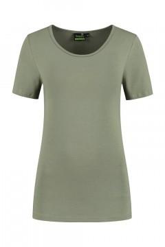 Sequoia - Basic top short sleeve khaki