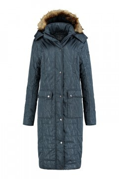 Brigg Long Quilted Coat - Dark Grey