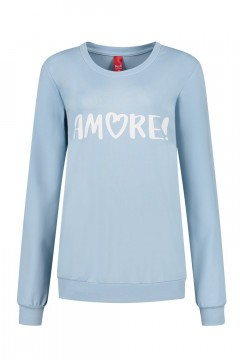 Only M - Sweater Amore light blue