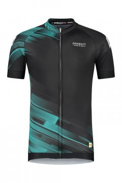 Panzeri Stelvio - Cycling jersey black/turquoise