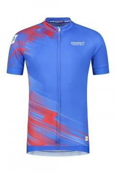 Panzeri Stelvio - Cycling jersey blue/red
