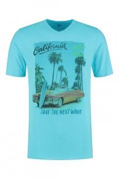 Kitaro T-Shirt - California Blue