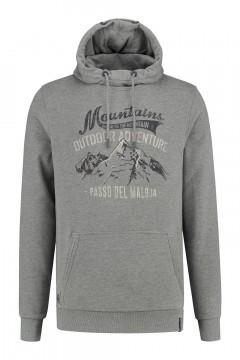 Kitaro Hoodie Sweater - Mountains grey