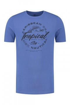 Kitaro T-Shirt - Tropical Blue