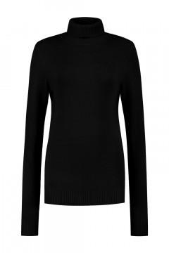 Casa Mia - Basic Turtleneck Sweater Black