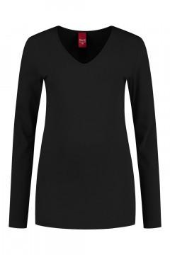 Only M - Basic V-neck top black