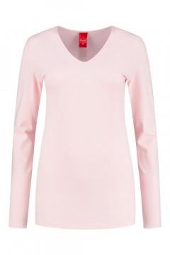 Only M - Basic V-neck top pink