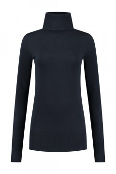 Only M - Basic Turtleneck Sweater Navy