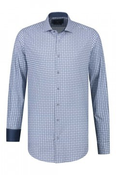 Corrino Shirt - Pattern Dark Blue