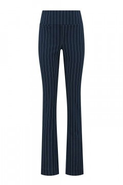 Chiarico - City Pants Navy Pinstripe