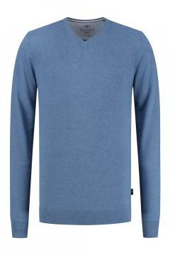Kitaro Sweater - Basic V-Neck Sky Blue
