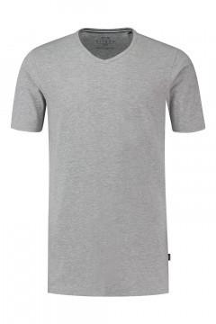 Kitaro T-Shirt - Basic V-Neck grey melange