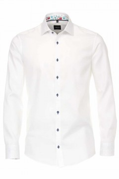 Venti Modern Fit Shirt - Structure White