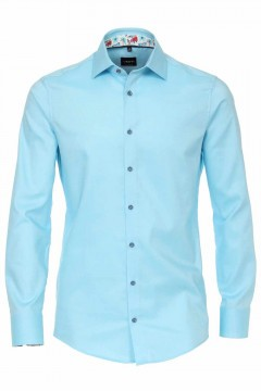 Venti Modern Fit Shirt - Structure Aqua
