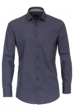 Venti Modern Fit Shirt - Navy/pattern