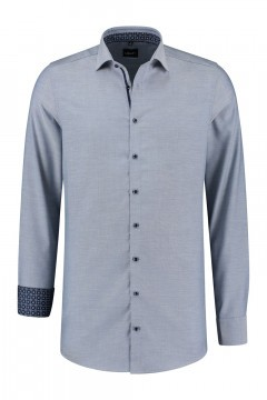 Venti Modern Fit Shirt - Blue/white