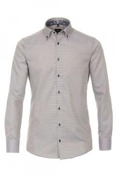Venti Modern Fit Shirt - Beige Structure