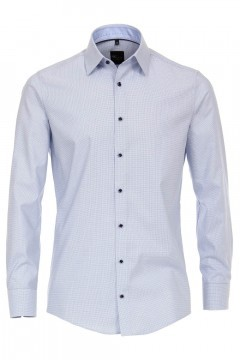 Venti Modern Fit Shirt - Blue-White