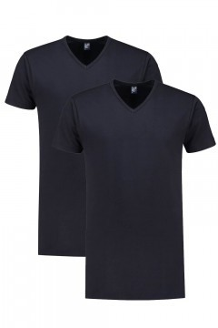 Alan Red Tall T-Shirt - Vermont Navy/2-pack