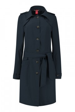 Only M Trenchcoat - Imprime Dark Blue