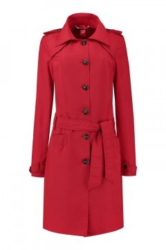 Only M Trenchcoat - Imprime Red