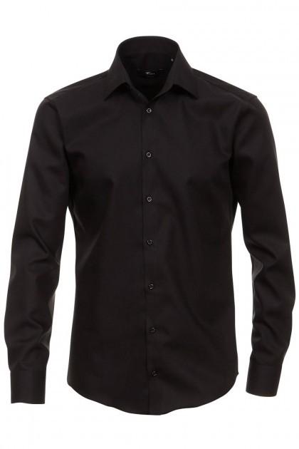 Venti slim fit shirt black