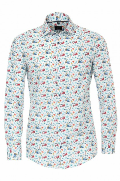 Venti Modern Fit Shirt - Surf Print