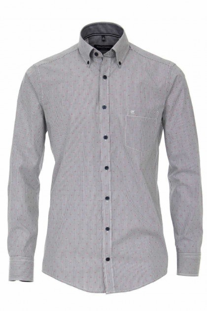 Casa Moda Casual Fit Shirt - Grey/red