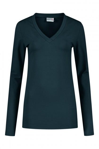 Highleytall - V-neck longsleeve shirt navy