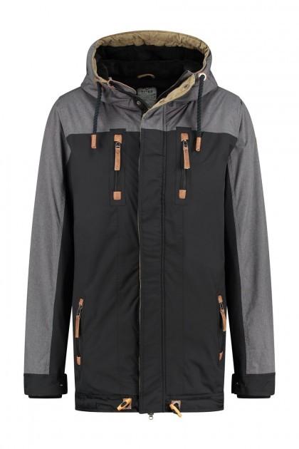 Brigg Winter Coat - Bicolor Black