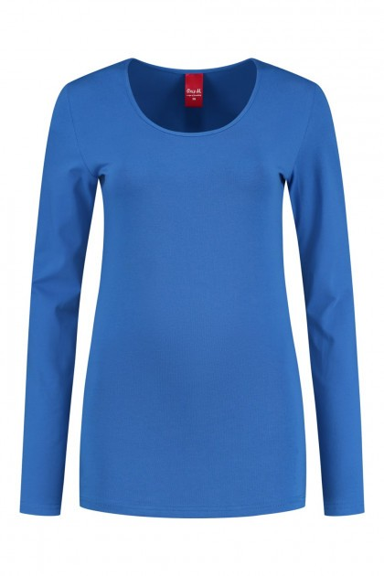 Only M - Basic O-neck top blue