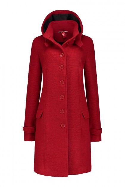 Only M - Wool Wintercoat Red