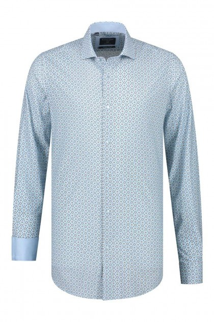 Corrino Shirt - Pattern Light Blue