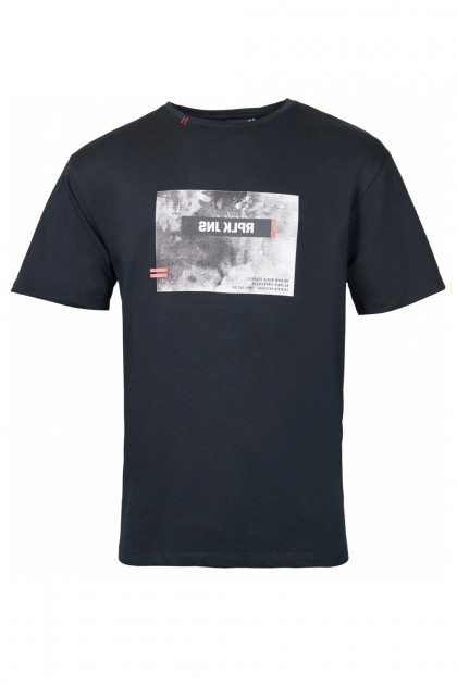 Replika Jeans T-Shirt - Print Black