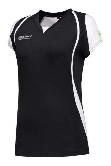Panzeri Cannes Cap Sleeves Shirt - Black
