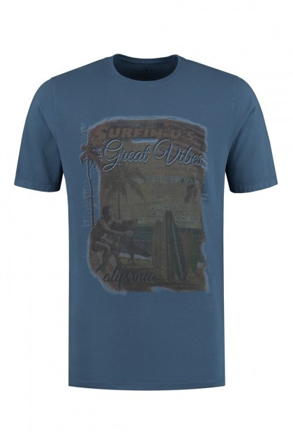 Kitaro T-Shirt - Great Vibes Navy