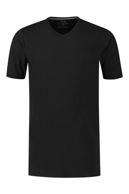 Kitaro T-Shirt - Basic V-Neck Black