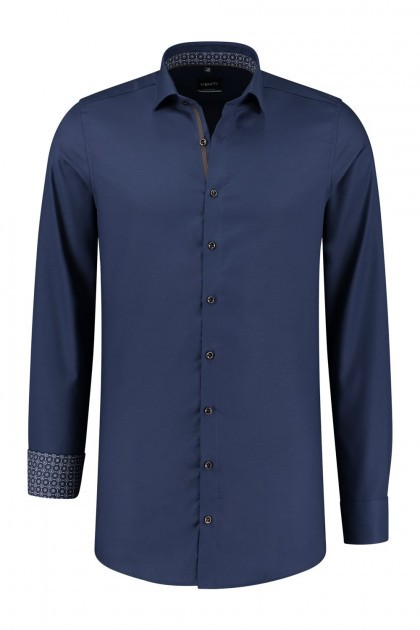 Venti Modern Fit Shirt - Dark Blue